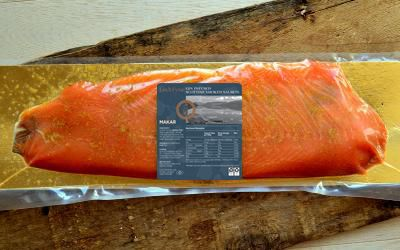 Makar Gin Infused Smoked Salmon Sliced Side (Min 1kg)