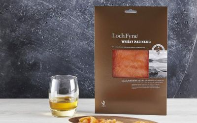 Whisky Marinated Smoked Salmon Slices 200g