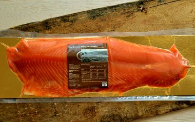 Whisky Marinated Smoked Salmon Sliced Side (min 1kg)