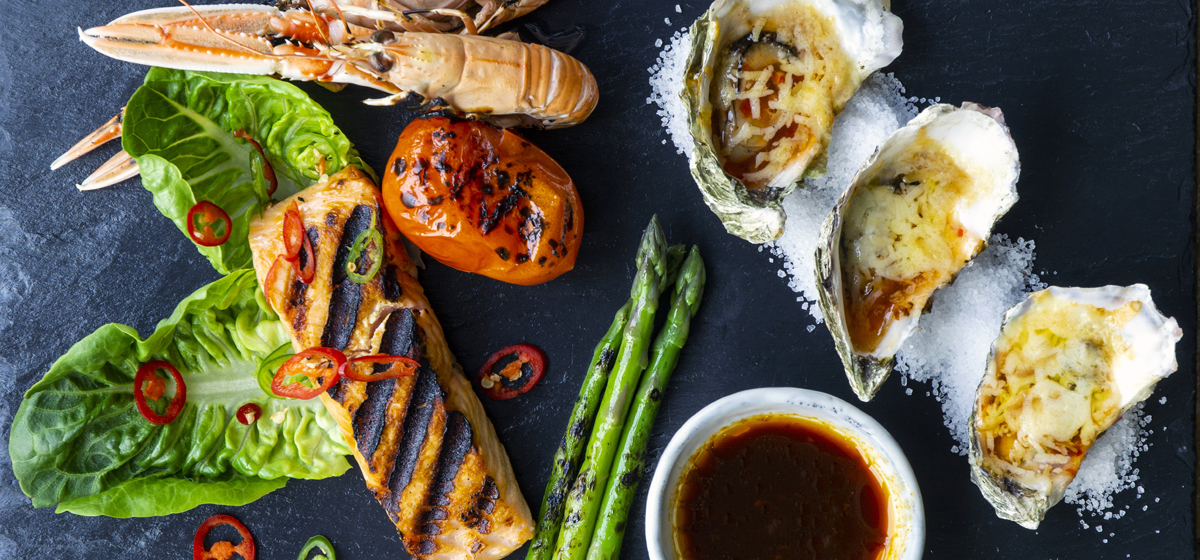 Loch Fyne Summer Barbecue with langoustines, oysters and lightly smoked salmon