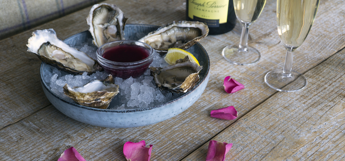 Loch Fyne Oysters and Joseph Perrier Champagne